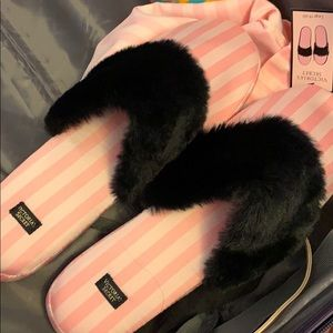New signature Satin Slippers Bag Pink Stripes